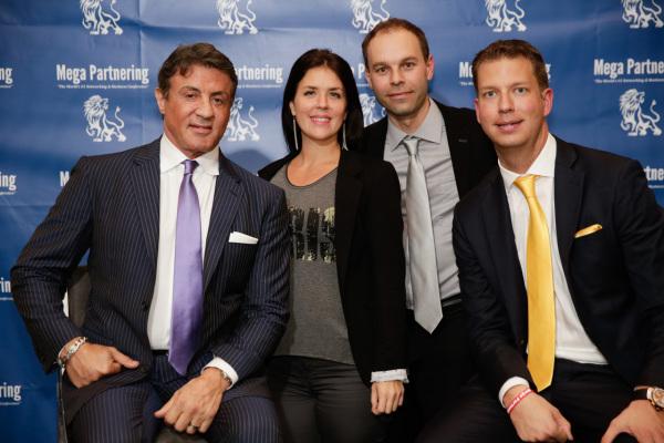 Sylvester Stallone, Chantal Ducharme, Patrick Béland et JT Foxx